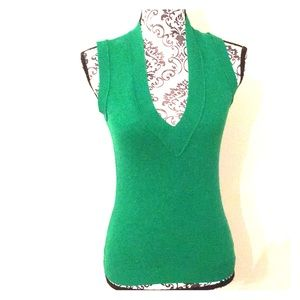 J.Crew V-neck green top Size XS